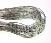 """25 Yards(75feet) - 2mm(1/13"""") Silver/Grey Satin Rattail Cord Chinese/china Knot Rat Tail Jewellery Braid 100% Polyester"""