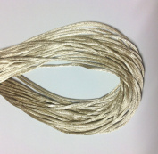 "25 Yards(75feet) - 2mm(1/13"") Toffee/Tan Satin Rattail Cord Chinese/china Knot Rat Tail Jewellery Braid 100% Polyester"