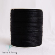 Black 2mm x 100 yards Rattail Satin Nylon Trim Cord Chinese Knot
