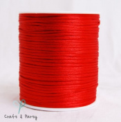 Red 2mm x 100 yards Rattail Satin Nylon Trim Cord Chinese Knot