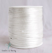 White 2mm x 100 yards Rattail Satin Nylon Trim Cord Chinese Knot