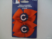 Offray MLB Ribbon Accessory 2 Red Bows with Chicago Cubs Button