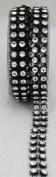 Black/Silver Double-strand Diamond Ribbon - 5 Yards