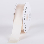 Antique White Satin Ribbon Single Face 1cm 100 Yards