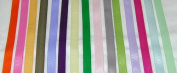 Solid Colour Grosgrain Ribbon Asst. #2 - 15 Colours 1cm X 2 Yard Each Total 30 Yds Per Package