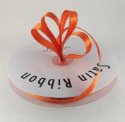 1cm Orange with Gold Edge Satin Ribbon 50 Yards Spool Single Faced Polyester