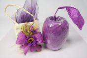 Purple Paper Raffia Ribbon-50 Yards X 2.5cm