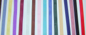 Solid Colour Grosgrain Ribbon Asst. #1 - 15 Colours 1cm X 2 Yard Each Total 30 Yds Per Package