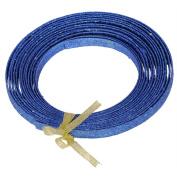 Ribbon Blue Glitter Plastic Craft Ribbon 1.3cm x 23'