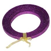 Purple Glitter Plastic Craft Ribbon 1.3cm x 23'