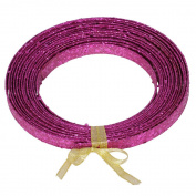 Magenta Glitter Plastic Craft Ribbon 1.3cm x 23'
