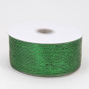 Moss Metallic Deco Mesh Ribbons 6.4cm x 25 yards