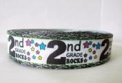 5 yards 2.5cm Second Grade Rocks Grosgrain Ribbon