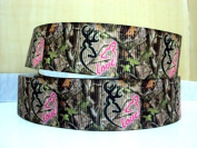 5 yards 7/8 LOVE Browning Deer Mossy Oak Country Grosgrain Ribbon