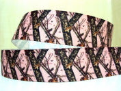 5 yards 7/8 PINK Real Tree Mossy Oak Grosgrain ribbon