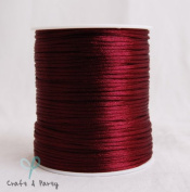 Wine 2mm x 100 yards Rattail Satin Nylon Trim Cord Chinese Knot