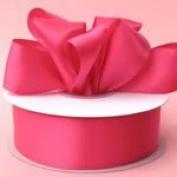 0.6cm x 100 yds Double Face Satin Ribbon-Shocking Pink