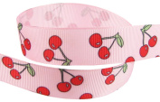 Hip Girl Boutique 5yd 2.2cm Cherry Ribbon-grosgrain --Lt Pink/Red