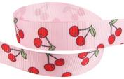 Hip Girl Boutique 5yd 2.2cm Cherry Ribbon-grosgrain --Lt Pink/Red