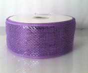 Lavender Metallic Deco Mesh Ribbon 6.4cm x 25 Yd