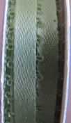 Offray Craft Trim SPOOL of RIBBON 6 YARDS Long x 0.5cm Wide MOSS GREEN Colour