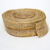 Kel-Toy Mixed Colour Jute Burlap Ribbon Roll, 5.1cm by 10-Yard, Natural/Brown
