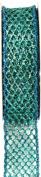 Kel-Toy Metallic Glitter Mesh Net Ribbon, 2.5cm by 10-Yard, Tiffany Blue