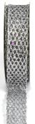 Kel-Toy Metallic Glitter Mesh Net Ribbon, 2.5cm by 10-Yard, Silver