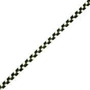 Venus Ribbon B00555 0.3cm Soutache Braid, Black/White