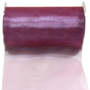 Kel-Toy 2-Tone Sheer Ribbon with Cut-Edge, 15cm by 10-Yard, Lavender/Red