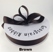 2.2cm Brown Grosgrain Ribbon 50 Yards Solid Colour.