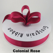2.2cm Colonial Rose Grosgrain Ribbon 50 Yards Solid Colour.