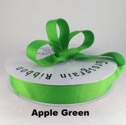 2.2cm Apple Green Grosgrain Ribbon 50 Yards Solid Colour.
