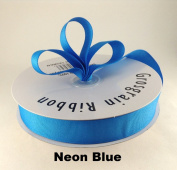 2.2cm Neon Blue Grosgrain Ribbon 50 Yards Solid Colour.