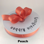 2.2cm Peach Grosgrain Ribbon 50 Yards Solid Colour.