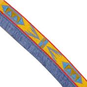 """5 yards 1"""" WIDE 25mm Geometric Tassel Jacquard Ribbon JR323"""
