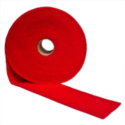 ACRYLIC FELT RIBBON - RED, 3.8cm WIDE X 50 FT LONG X 0.2cm THICK