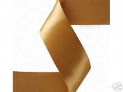 3.8cm x 50 yds Single Face Satin ribbon- OLD GOLD