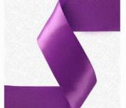 3.8cm x 50 yds Single Face Satin ribbon- PURPLE