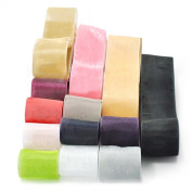 Oparty Sheer Organza Ribbon Group 78 Rolls of 2.5cm and 3.8cm , Party Favours
