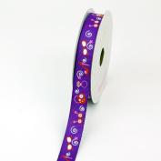 LUV Ribbons Grosgrain Girls Accessories Print Ribbon, 1.6cm , Purple