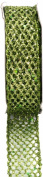 Kel-Toy Metallic Glitter Mesh Net Ribbon, 2.5cm by 10-Yard, Apple Green