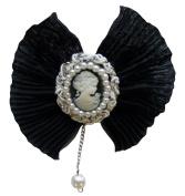 Venus Ribbon FB6718-C Novelty Cameo Brooch, Black