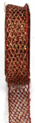 Kel-Toy Metallic Glitter Mesh Net Ribbon, 2.5cm by 10-Yard, Red/Gold