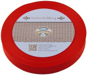 Country Brook Design® 2.5cm Red Lite Weight Nylon Webbing, 25 Yards
