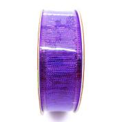 Jo-ann's Holiday Inspirations Purple Ribbon,shiny Bright Purple,2.2cm x 9ft.