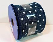 Jo-ann's Ribbon Inspirations,blue Denim/white Polka Dots,3.8cm x 12ft.