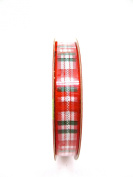 Jo-ann's Holiday Inspirations Red/green Plaid Ribbon,red/green/white/silver,1cm x 9ft.