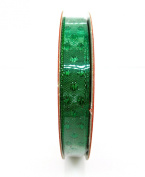 Jo-ann's Holiday Inspirations Shiny Green Polka Dot Ribbon,green on Green,1cm x 9ft.