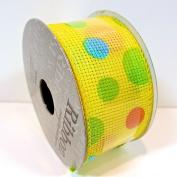 Jo-ann's Ribbon Inspirations,yellow/pastel Polka Dots,3.8cm x 12ft.